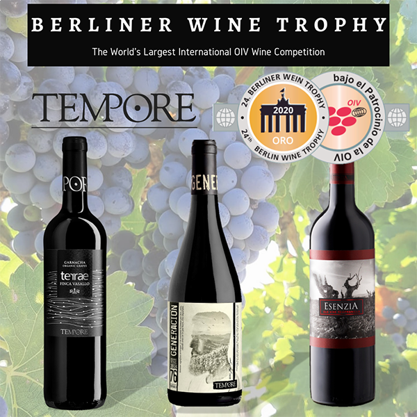 BERLINER WINE TROPHY GIVES 3 NEW GOLD MEDALS TO OUR ORGANIC WINES