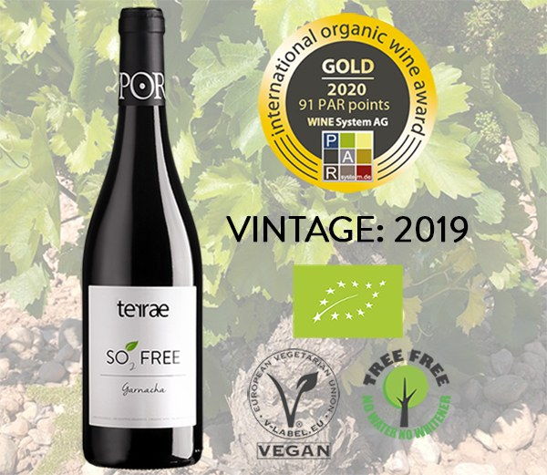 OUR ORGANIC GARNACHA WITHOUT ADDED SULPHITES RECEIVES A NEW GOLD MEDAL IN GERMANY