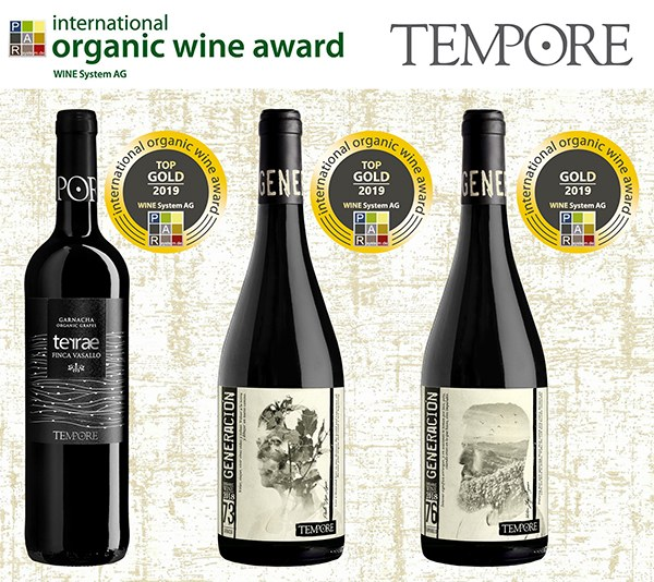 2 TOP GOLD MEDALS AND 1 GOLD MEDAL FOR OUR ORGANIC WINES MADE OF GARNACHA & TEMPRANILLO GRAPES