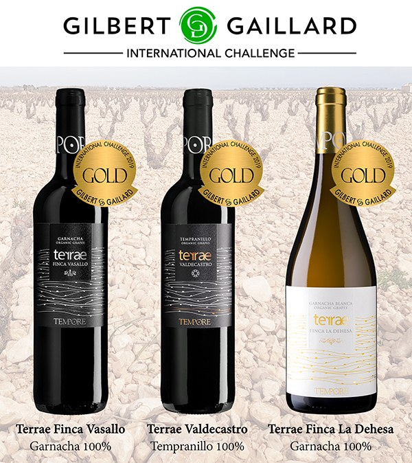 3 ORGANIC WINES OF BODEGAS TEMPORE RECEIVED GOLD MEDALS FROM GILBERT&GAILLARD