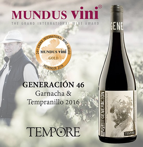 GOLD MEDAL FROM MUNDUS VINI TO OUR ORGANIC WINE GENERACIÓN 46 (GARNACHA & TEMPRANILLO)